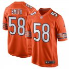 Men's Chicago Bears 58# Roquan Smith Game Orange Stitched Jersey