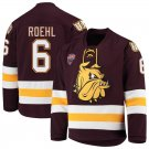 Minnesota–Duluth Bulldogs 6 Louie Roehl Away Red Hockey Stitched Jersey