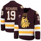 Minnesota–Duluth Bulldogs 19 Justin Richards Away Red Hockey Stitched Jersey