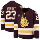 Minnesota–Duluth Bulldogs 23 Nick Swaney Away Red Hockey Stitched Jersey