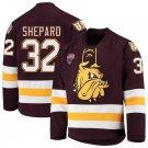 Minnesota–Duluth Bulldogs 32 Hunter Shepard Away Red Hockey Stitched Jersey