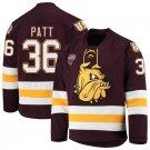 Minnesota–Duluth Bulldogs 36 Ben Patt Away Red Hockey Stitched Jersey