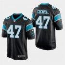 Carolina Panthers #47 Ross Cockrell Black Stitched Game Jersey