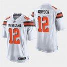 Cleveland Browns #12 Josh Gordon White Stitched Game Jersey