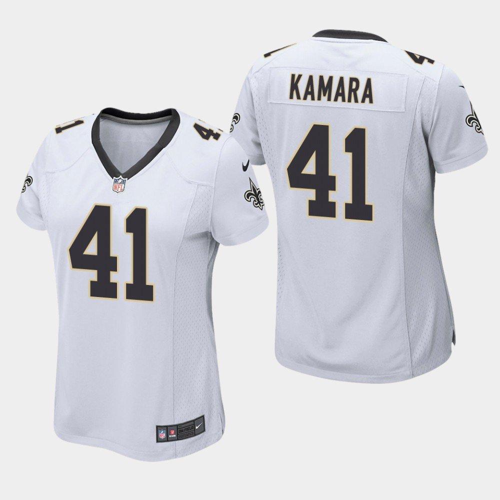 Women S New Orleans Saints 41 Alvin Kamara White Stitched