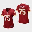 Women's Washington Redskins #75 Brandon Scherff Burgundy Stitched Jersey