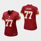 Women's Washington Redskins #77 Shawn Lauvao Burgundy Stitched Jersey