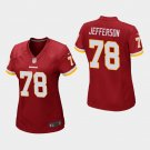 Women's Washington Redskins #78 Cameron Jefferson Burgundy Stitched Jersey