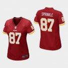 Women's Washington Redskins #87 Jeremy Sprinkle Burgundy Stitched Jersey