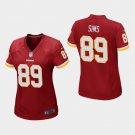 Women's Washington Redskins #89 Cam Sims Burgundy Stitched Jersey