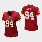 Women's Washington Redskins #94 Preston Smith Burgundy Stitched Jersey