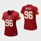 Women's Washington Redskins #96 Pernell McPhee Burgundy Stitched Jersey