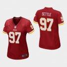 Women's Washington Redskins #97 Tim Settle Burgundy Stitched Jersey