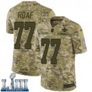 #77 New Orleans Saints Willie Roaf Limited Men's Camo Super Bowl LIII Jersey