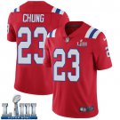#23 New England Patriots Patrick Chung Limited Men's Alternate Red Super Bowl LIII Jersey