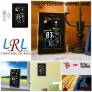 Indoor Outdoor Thermometer Wireless With Humidity Monitor Alarm Clock Barometer