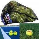 18 Tennis Balls Tourna New Low Compression Tennis Balls Mesh Carry Big Bag