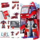 NEW Mallya RED Bus Change into Fighter Robot Action Figure Toy IDEAL XMAS Gift