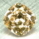 0.12Ct NATURAL COLOR Fancy Orange Yellow Cushion Cut Loose Natural Real Diamond
