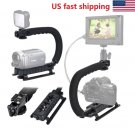 Video Stabilizer Camera Action Dslr Handle Grip Rig Phone Triple Mounts U Shape