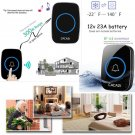 LED 3 Volume 1000FT Wireless Doorbell 38 Chime [1 Plugin Receiver+1 Transmitter]