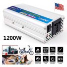 1200W Modified Sine Car Auto Power Inverter DC 12V to AC 220V Charger Converter