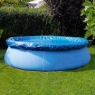 8/10/12/15ft Round Swimming Paddling Pool Cover Inflatable Easy Fast Set Rope