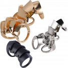 Gothic Punk Rock Long Full Finger Knuckle Armor 4-Step Hinged Double Finger Ring