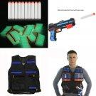 1pcs Tactical Vest+100pcs Gun Bullet Darts for Nerf N-Strike Elite Battle Game