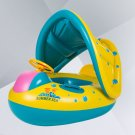 2018 Baby Swim Ring Inflatable Toddler Float Swimming Pool Water Seat Canopy