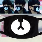 Black EXO Cotton Mouth Face Mask Respirator for Cycling Anti-Dust Cute Bear