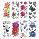 8 Sheets Women Temporary Tattoo Arm Body Art Removable Waterproof Tattoo Sticker
