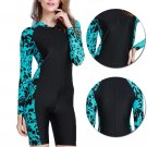 Women Surf Suit Long Sleeve Sun Protection Rashguard One-piece