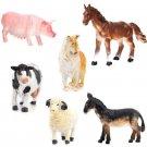 6Pcs Kids Toy Plastic Action Figure Farm Animals Pig Dog Cow Sheep Horse Donkey