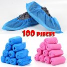 100*Breathable Anti-slip Dustproof Fabric Disposable Shoes Covers Elastic Band