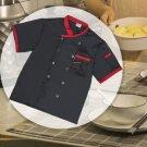 Chef Jacket Food Service Short Sleeve Hotel Kitchen Unisex Uniform Fashion Suit