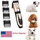Pro Electric Pet Dog Cat Hair Trimmer Shaver Razor Grooming Quiet Clipper+ COMBS