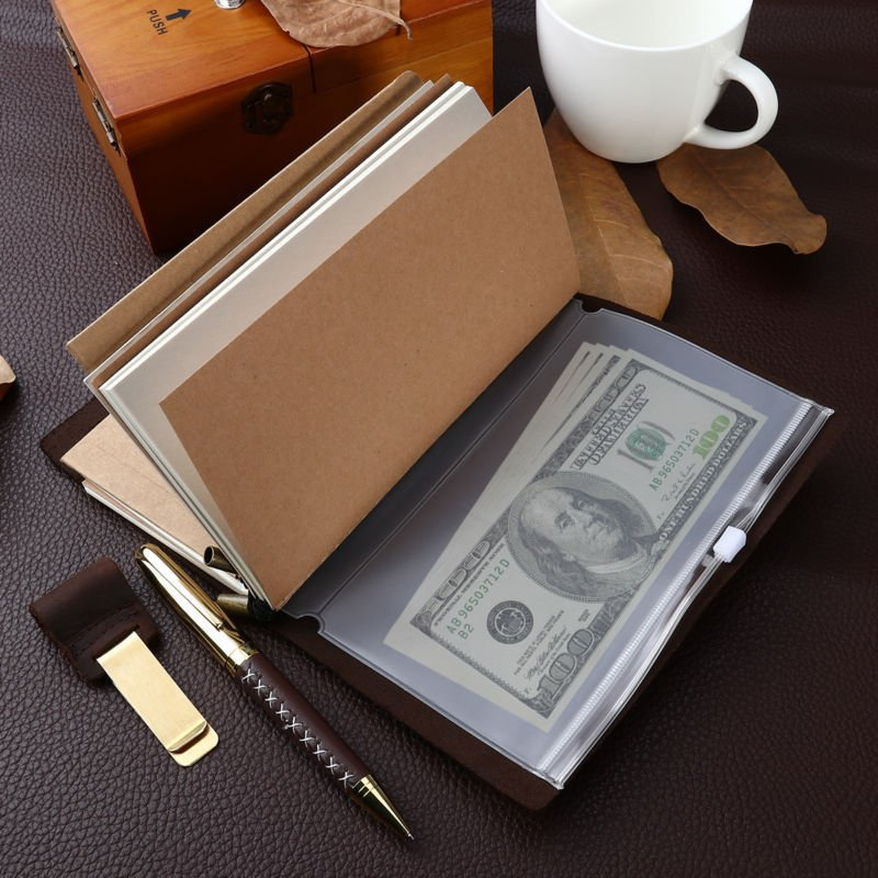NUOLUX Leather Journal Antique Writing Notebook Genuine with Pen and Pen Holder