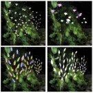 3PACK Outdoor Garden Lawn Solar 60LED Powered Branch Tree Leaf Flower Lights US