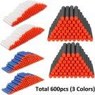 600pcs 7.2cm/2.8'' Foam Refill Darts for Nerf N-strike Elite Blasters Toy Gun US