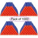 USA Lot 1000pcs Bullet Darts For NERF Toy Gun N-Strike Round Head Blasters Blue
