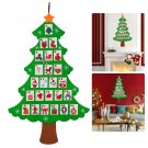 Xmas Christmas Hanging Advent Calendar Countdown Fabric Felt Tree Wall Decor New