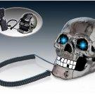 Home Office Skull Head Skeleton Led Wired Telephone Horror Halloween Table Decor
