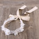 Korean Style Lovely Head Band Decorative Embroidery Wreath Hair Bow for Grils