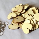 50pcs Wooden Slices Small Round Clip Calendar Accessories for Birthday Reminder