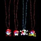 4Pcs Halloween Flashing Necklace Light Up Pendant Party Favors Novelty