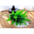 Simulation Green Plant with 7 Branches 21 Leaves for Home Party Decoration