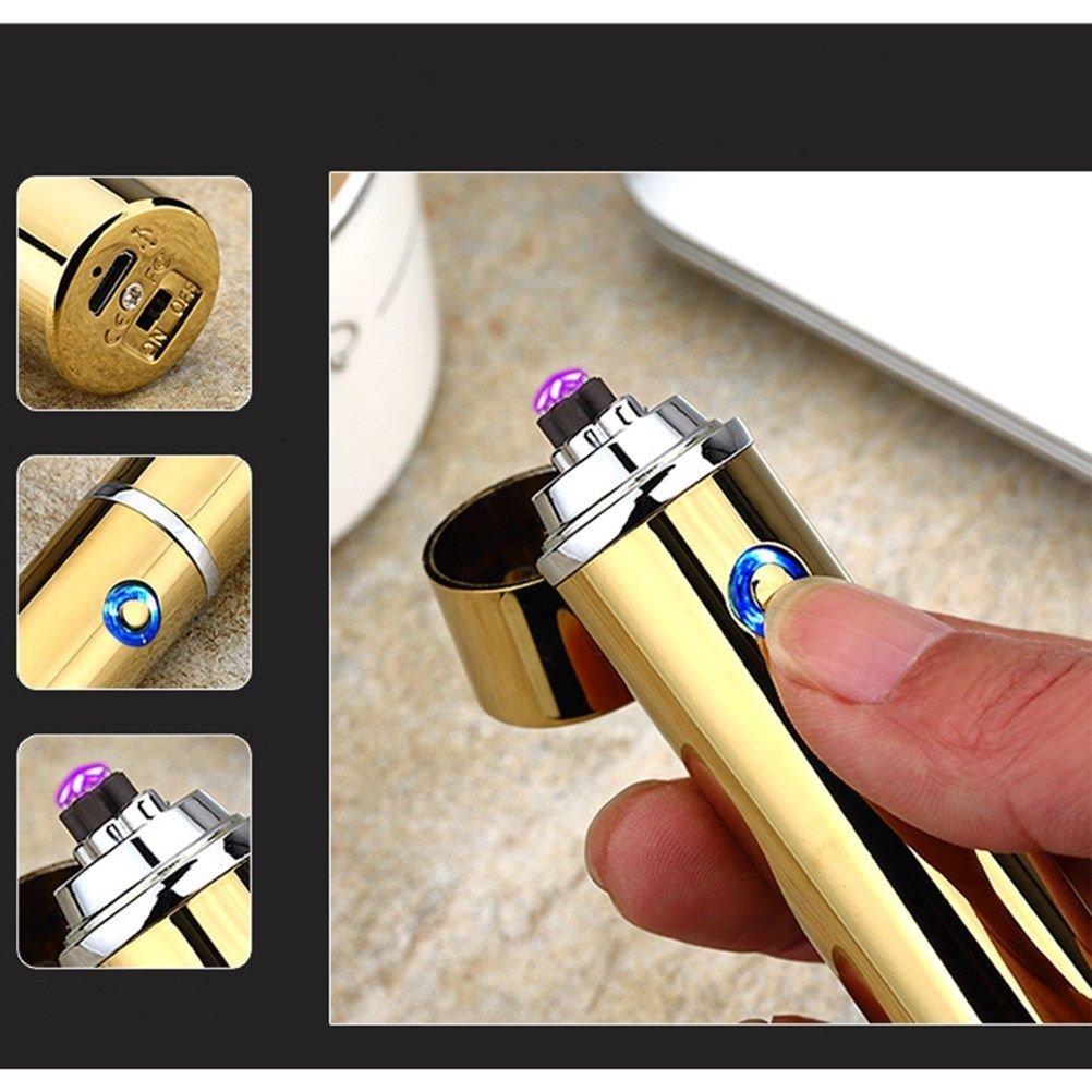 Dual Arc Electric USB Rechargeable Windproof Cigarette Lighter Cigar Lighter