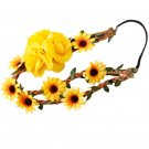 Floral Headband Stylish Crown Hair Wreath for Wedding Travel Party