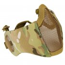 Tactical Foldable Protective Mask Mesh Face Mask for Shooting Paintball Hunting